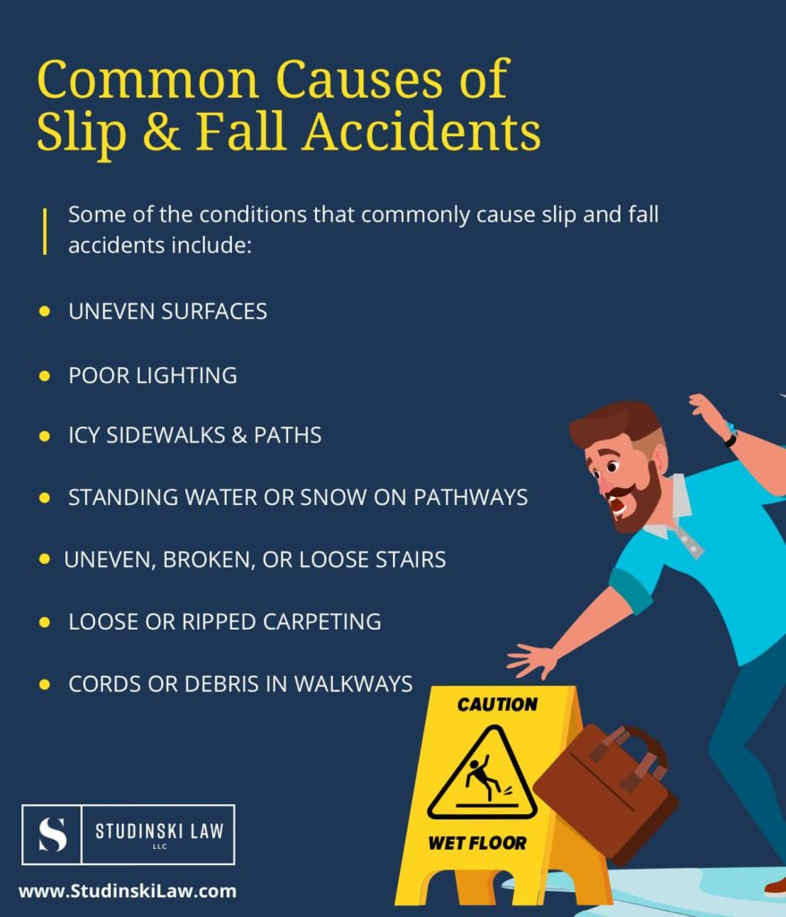 Common Causes of Slip and Fall Accidents   Studinski Law LLC